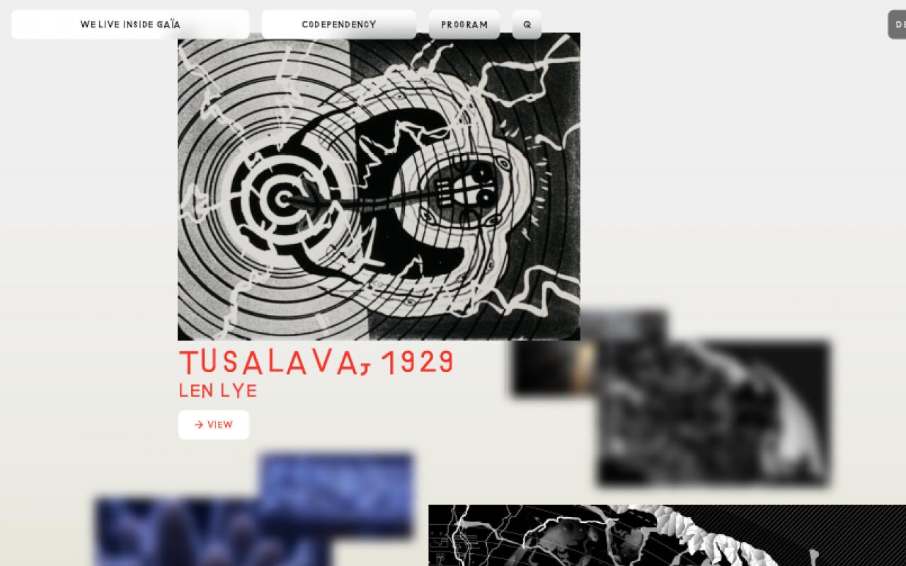 Screenshot »Critical Zones« Ausstellung