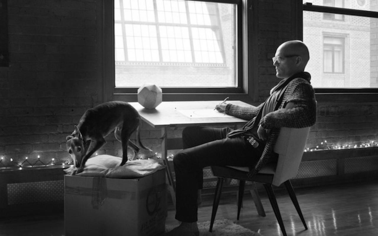Fotograph of the composer David Brynjar Franzson