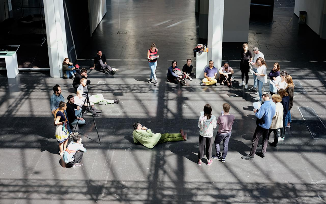 Critical Zones Study Group at Karlsruhe University of Arts and Design (HfG) during the May 2018 session