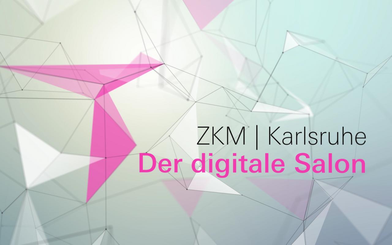Eine Stillaufnahme mit den Worten »ZKM | Karlsruhe. Der Digitale Salon«