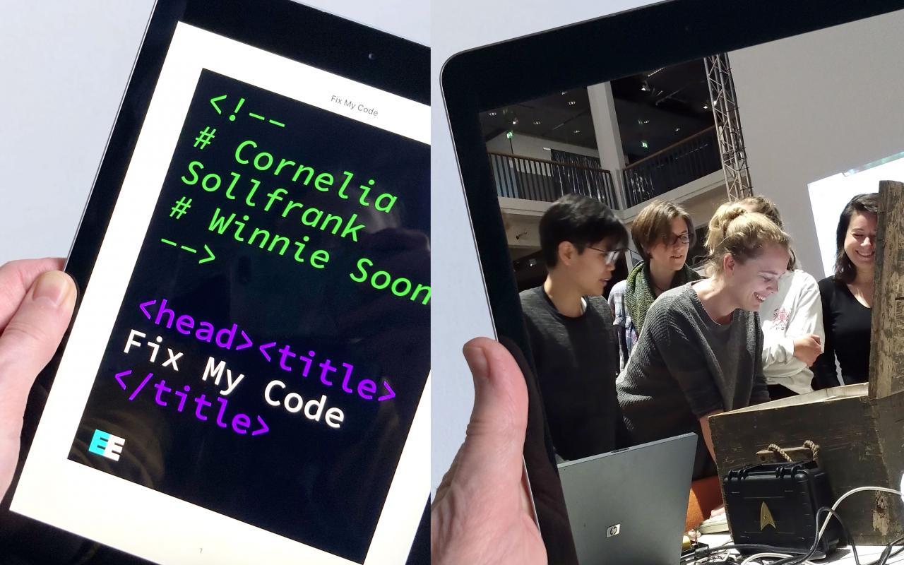 """Publikation """"Fix My Code"""", 2021 von Cornelia Sollfrank und Winnie Soon"""
