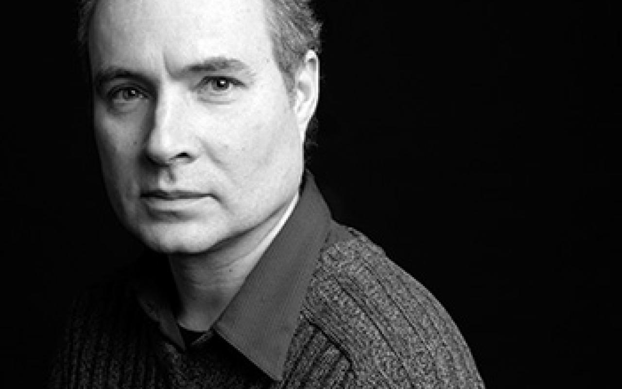 Black and white portrait of Gilles Gobeil