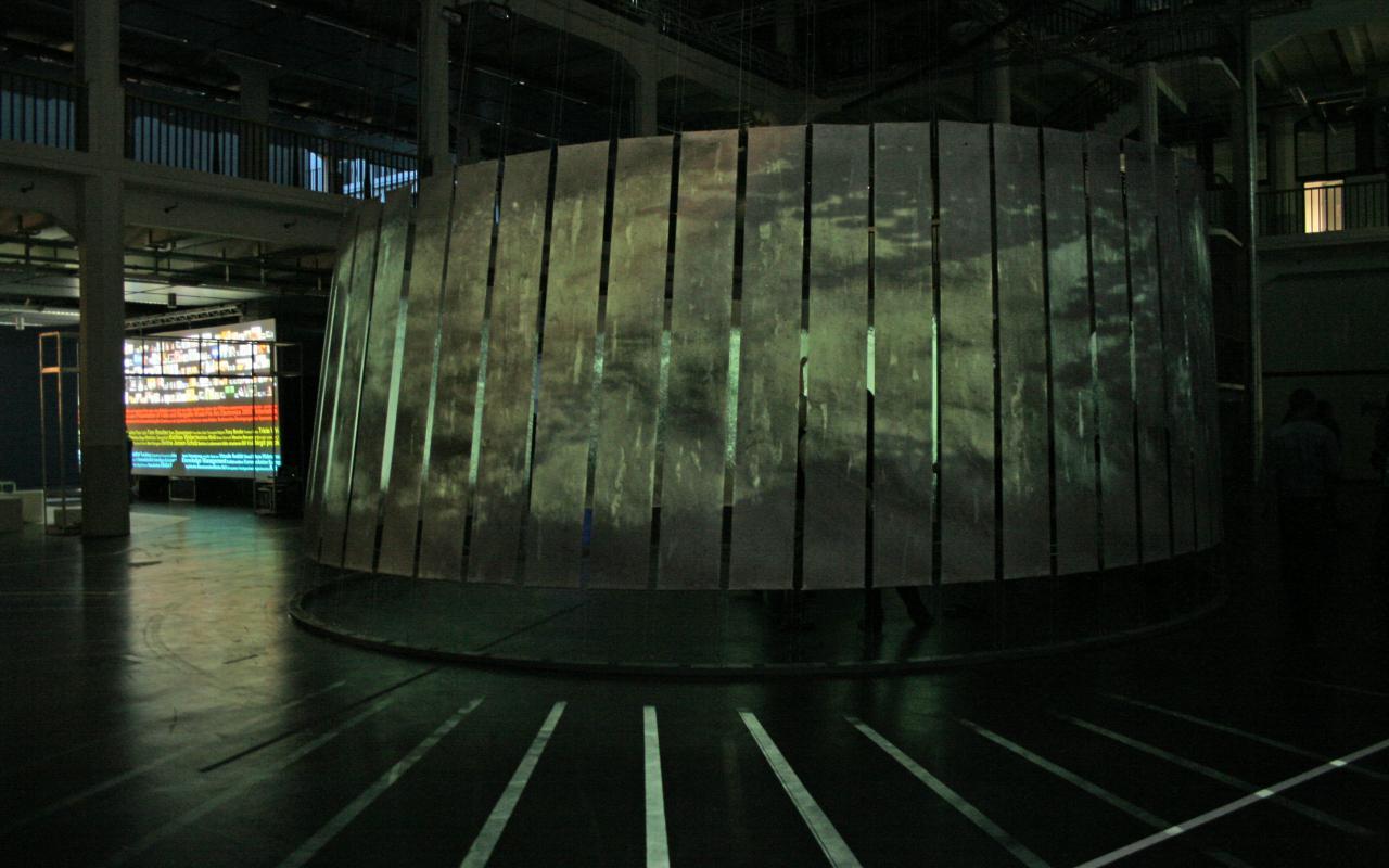 """Ausstellungsansicht """"Kunst Computer Werke"""""""