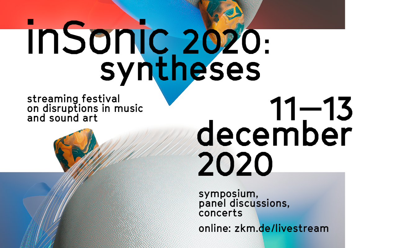Visual of the »inSonic 2020« festival at the ZKM Karlsruhe.