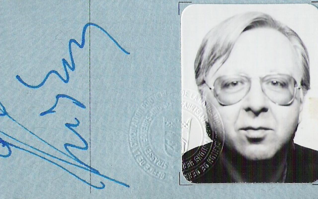 Unterschrift und Passbild von Gerhard Johann Lischka