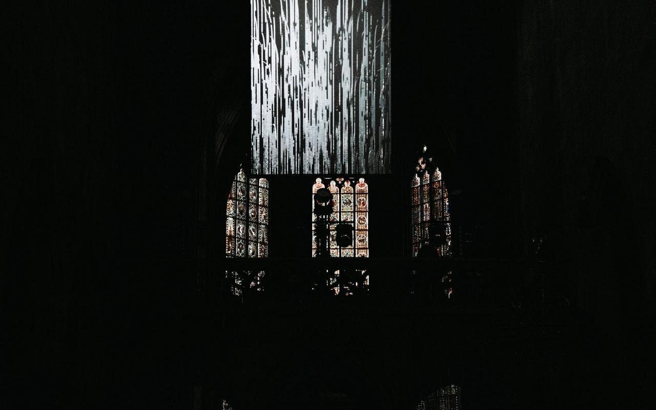Uraufführung von »Fantasie#1« (2019) für Radioteleskop, künstliche Intelligenz und selbstspielende Orgel des Duos Quadrature in Zusammenarbeit mit Christian Losert im Rahmen des PODIUM Festivals 2019 in Esslingen