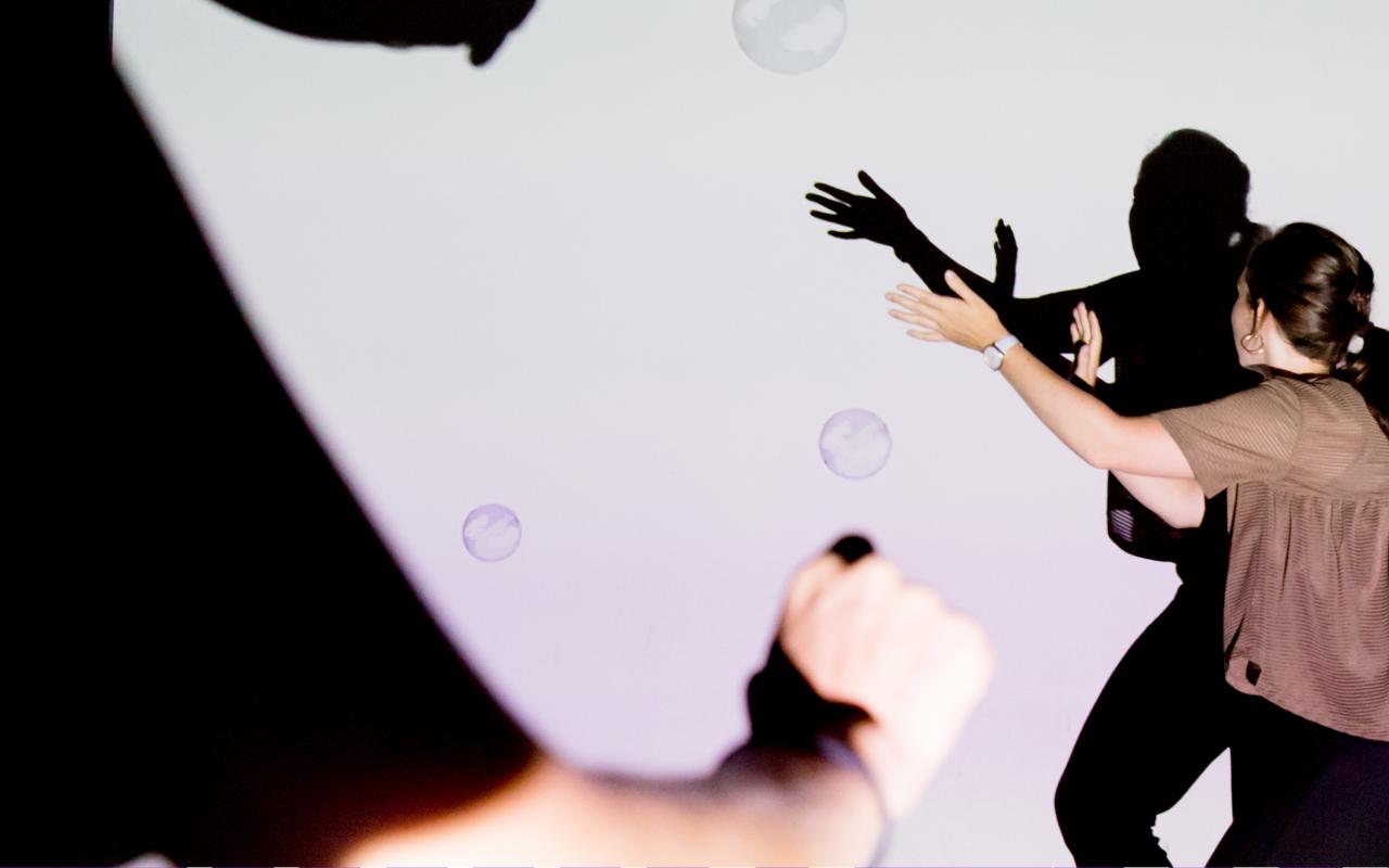 Podcastplakat für ZKM | Kunstwerke: Interaktive Installation »Bubbles«