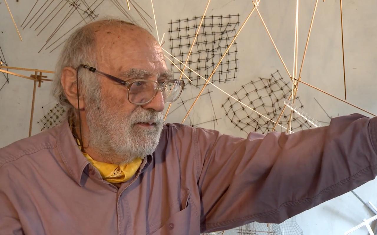 Porträt von Leonardo Mosso in seinem Atelier,