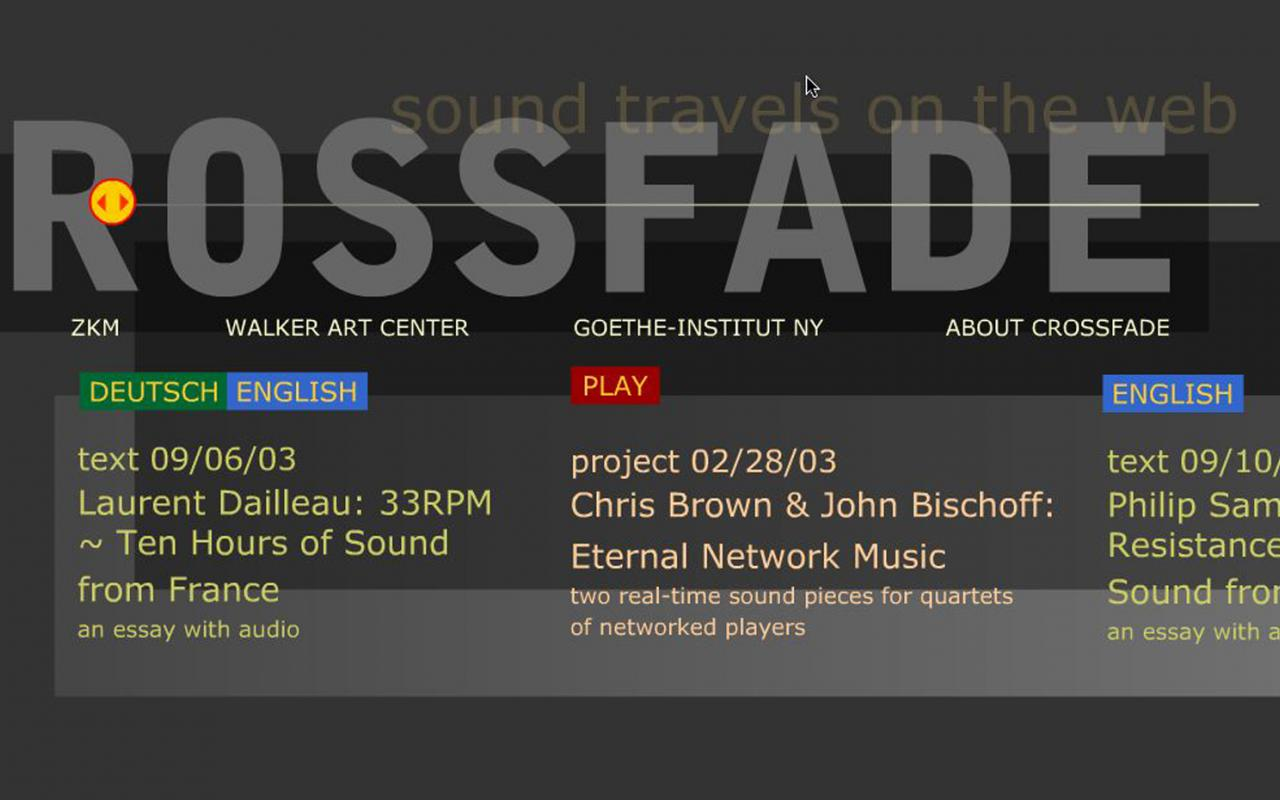 Screenshot of the web-site »Crossfade«