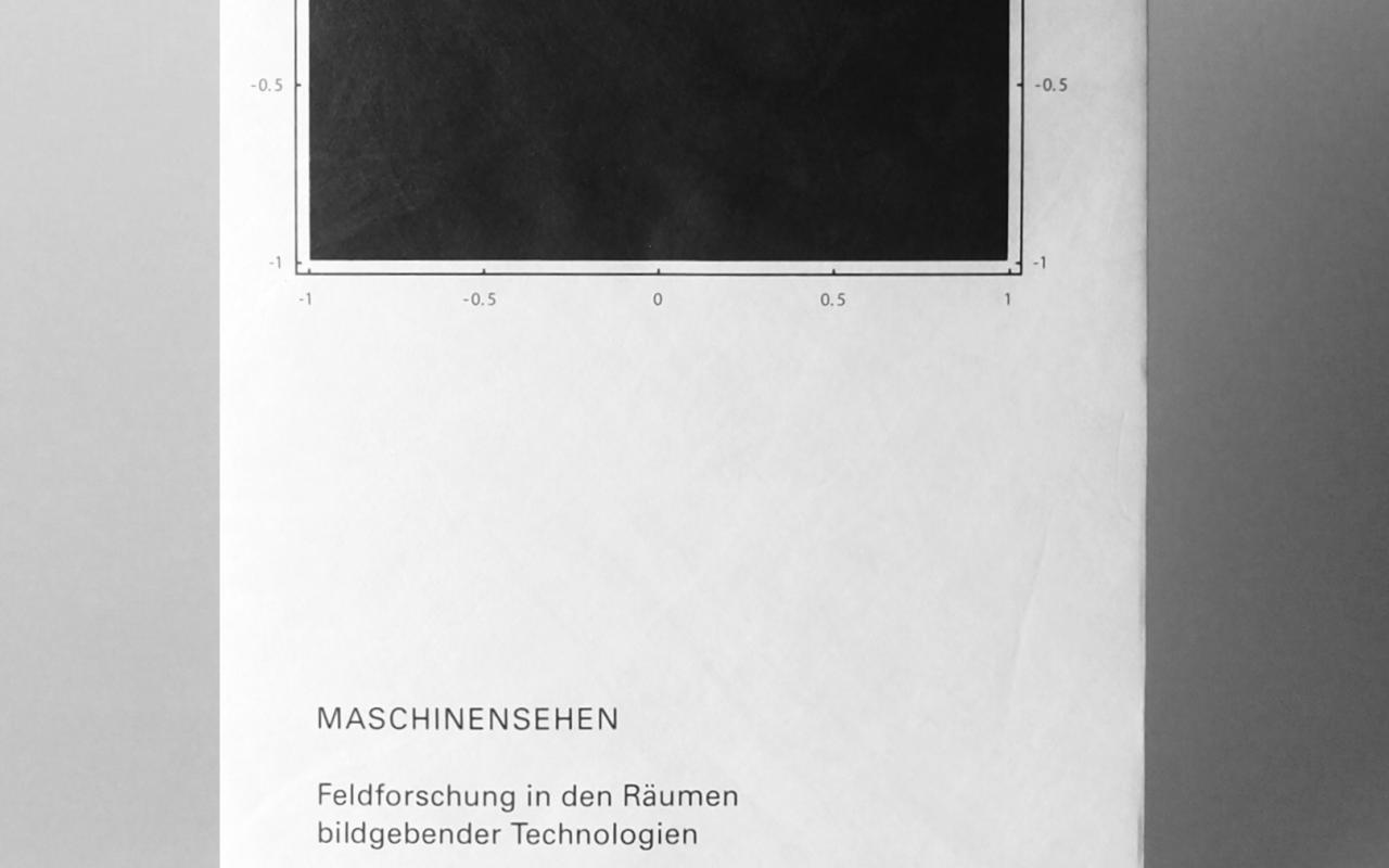 Ein weißes Buchcover mit schwarzer Schrift und einem schwarzen Quadrat.
