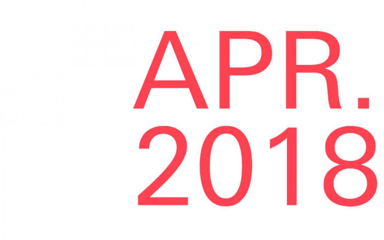 Lettering »Apr. 2018«