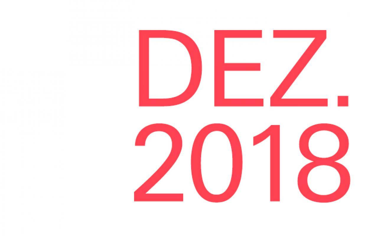 Schriftzug »Dez. 2018«
