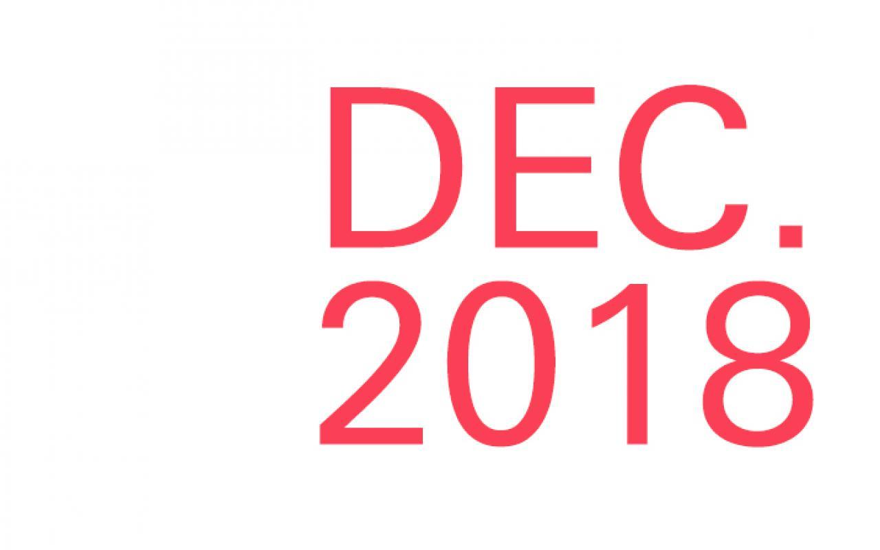Lettering »Dec. 2018«
