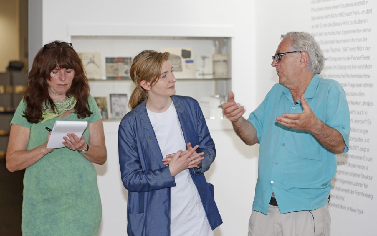 Künstler Manfred Mohr im Gespräch mit Margit Rosen im Jahr 2013