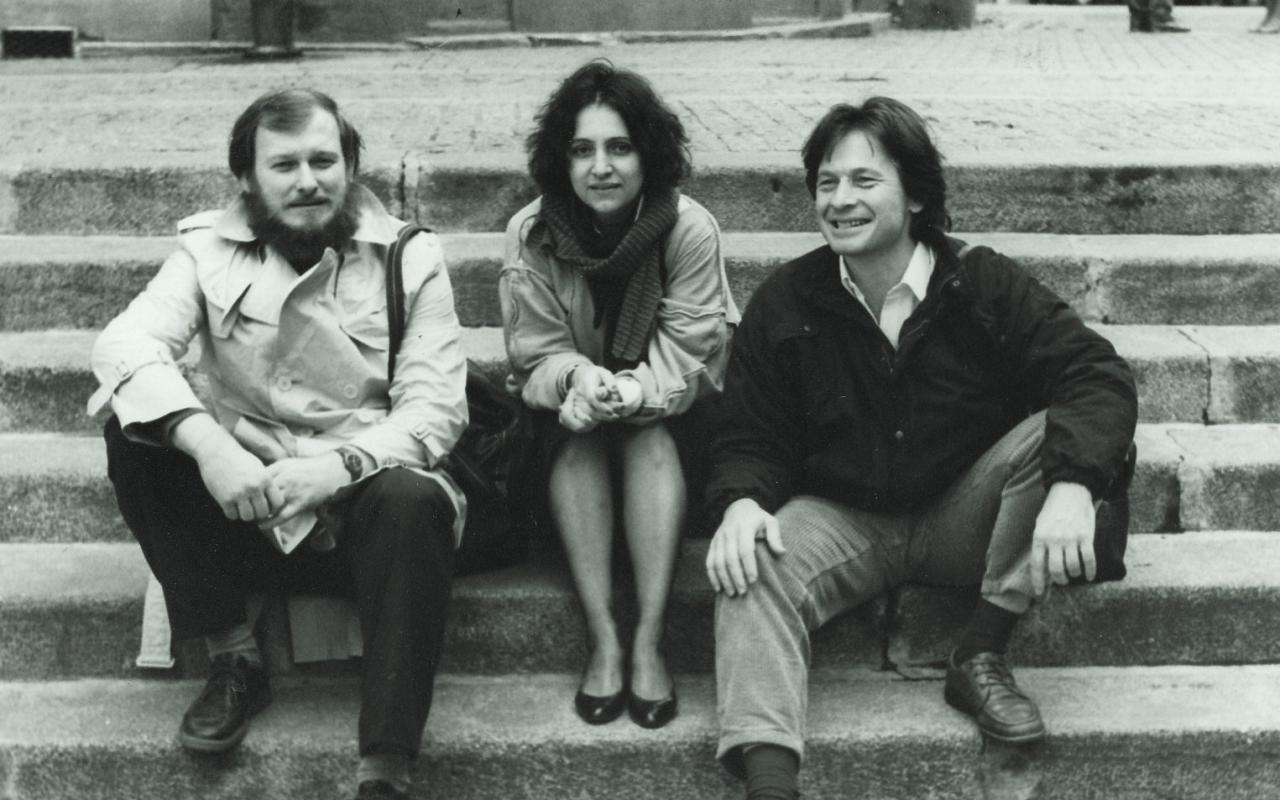 Miro A. Cimerman, Dunja Donassy-Bonačić, Vladimir Bonačić, Paris, 1984
