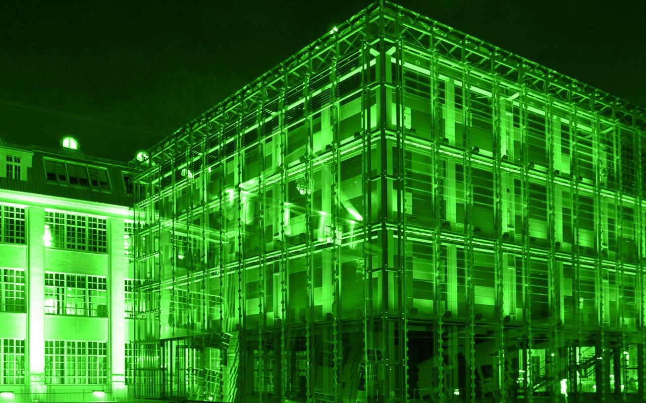 Image of ZKM Cube pigmented  in green