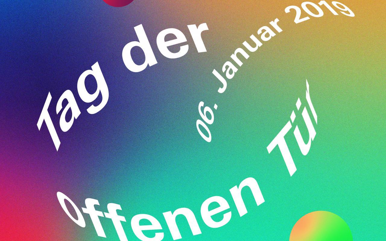 Plakat zum Tag der offenen Tür 2019
