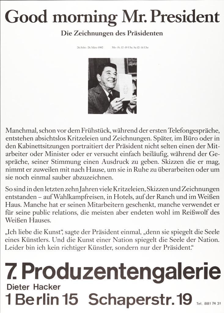 Poster mit Text: Good Morning, Mr. President