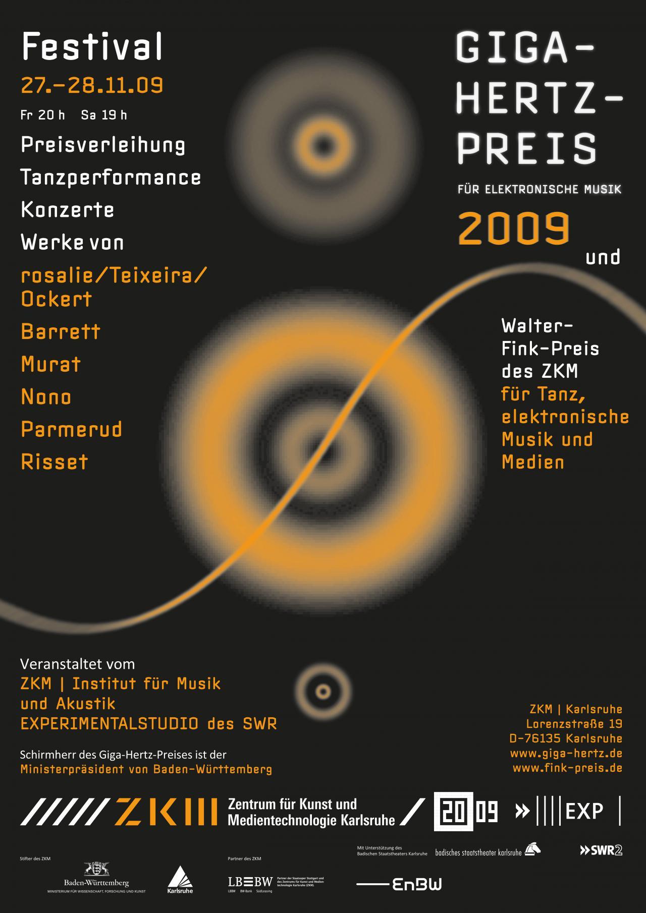 Plakat des Giga-Hertz-Preis 2009 am ZKM | Karlsruhe