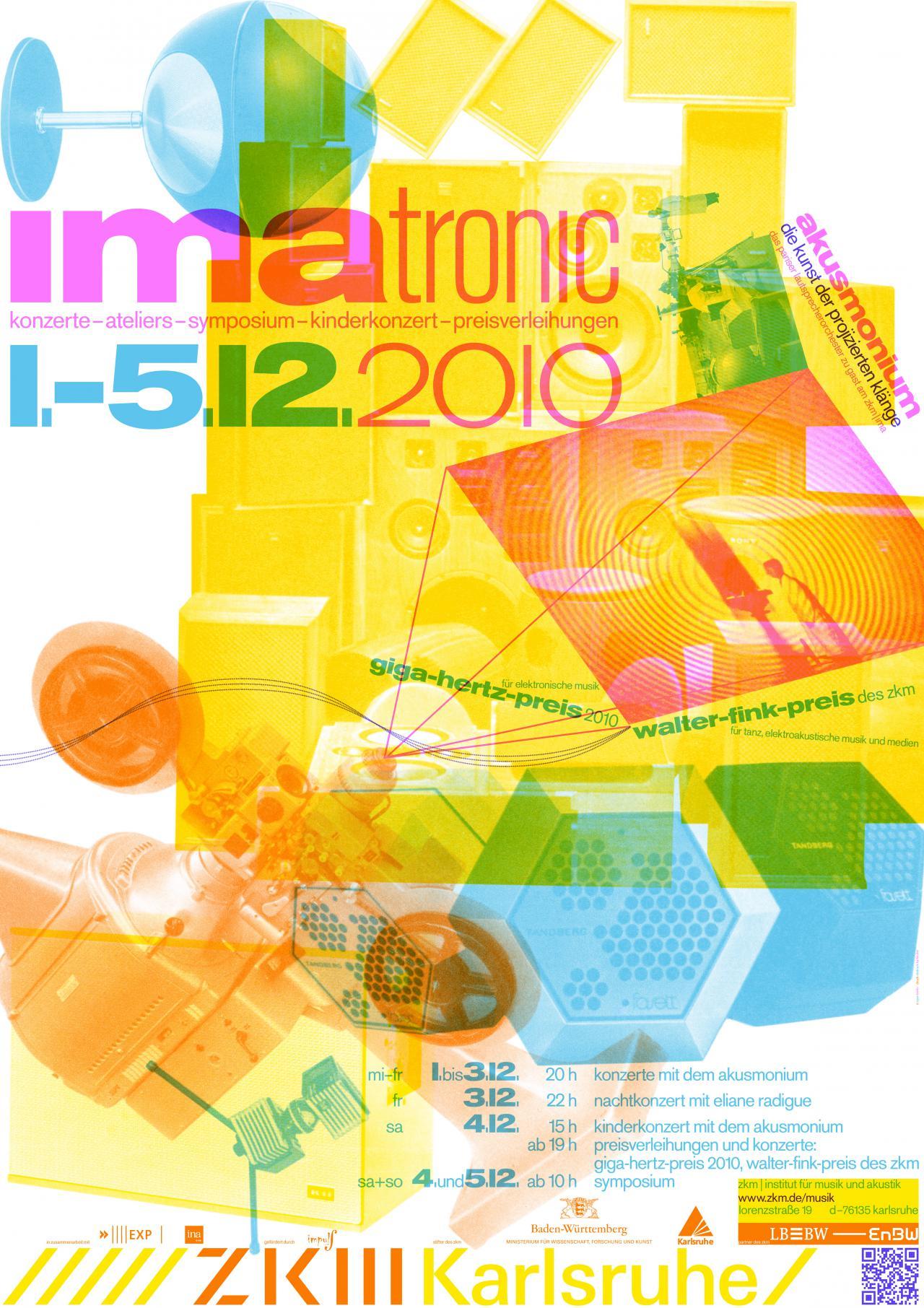 Plakat des Giga-Hertz-Preis 2010 am ZKM | Karlsruhe