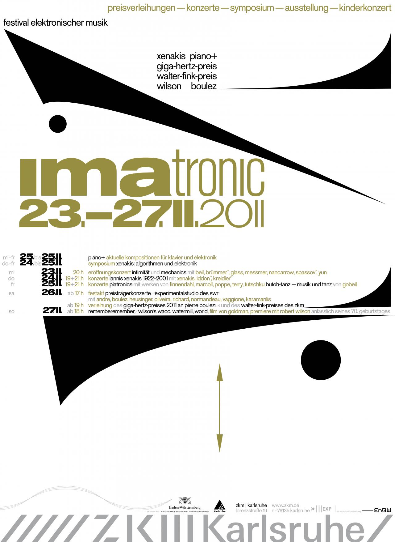 Poster IMATRONIC 2011 at ZKM | Karlsruhe