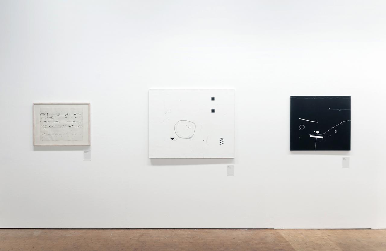 Blick in die Ausstellung mit dem Titel »Der Algorithmus des Manfred Mohr«