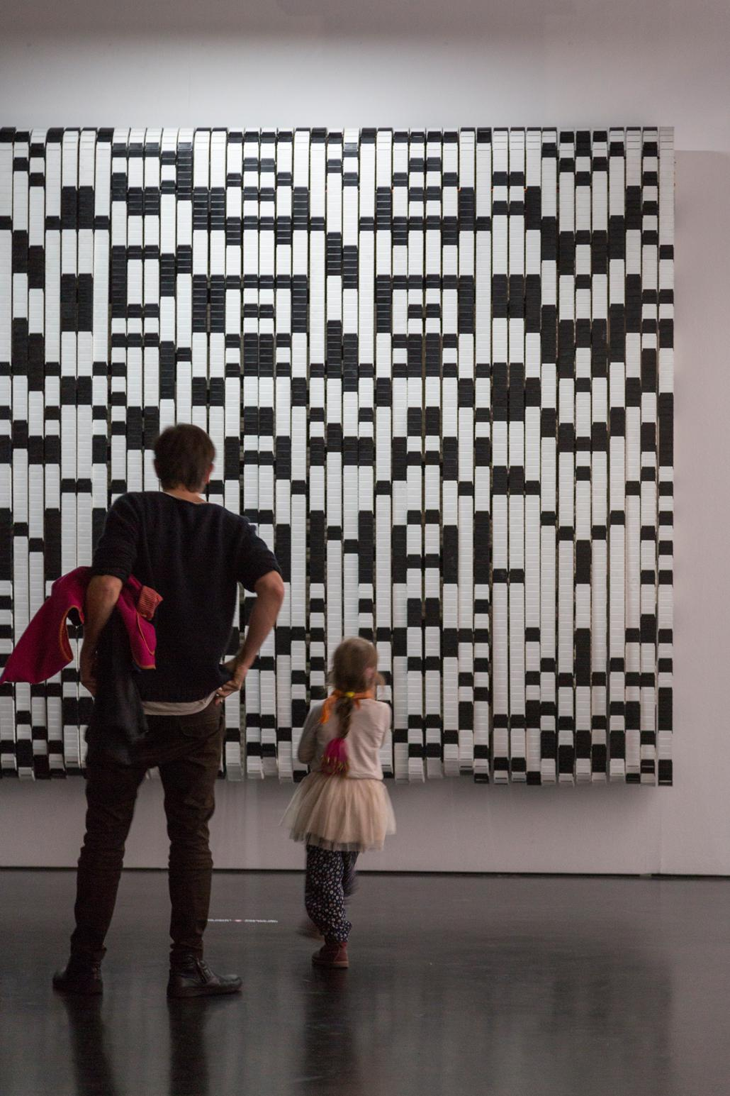 A QR code as picture on the wall