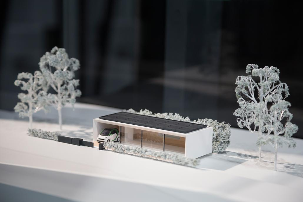 A model of a bungalow