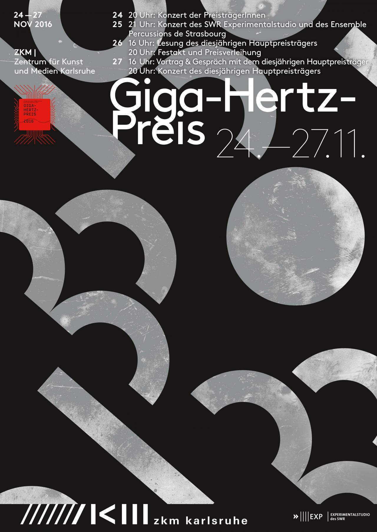 Poster Giga-Hertz Award 2016 at ZKM | Karlsruhe