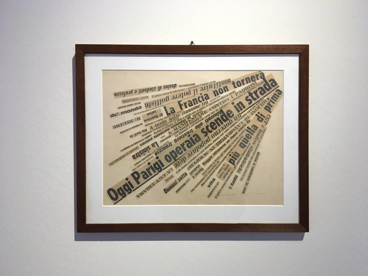 View of the exhibition »Nanni Balestrini. Wer das hir liest braucht sich vor nichts mehr zu fürchten«