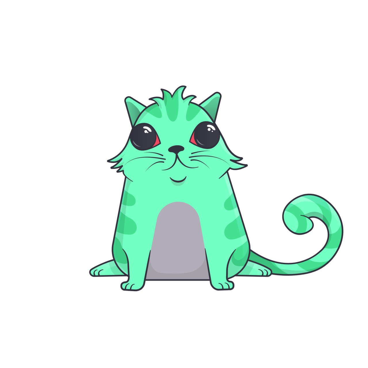 Crypto art: an illustrated colorful cat.