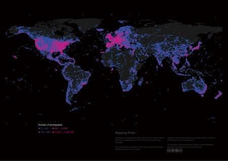 Karte mit Überblick über Flicker-Nutzung