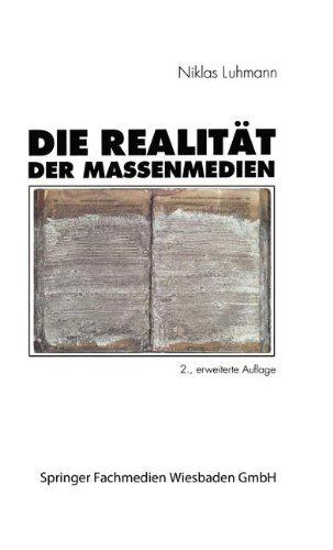 Buchcover von »Die Realtität der Massenmedien«