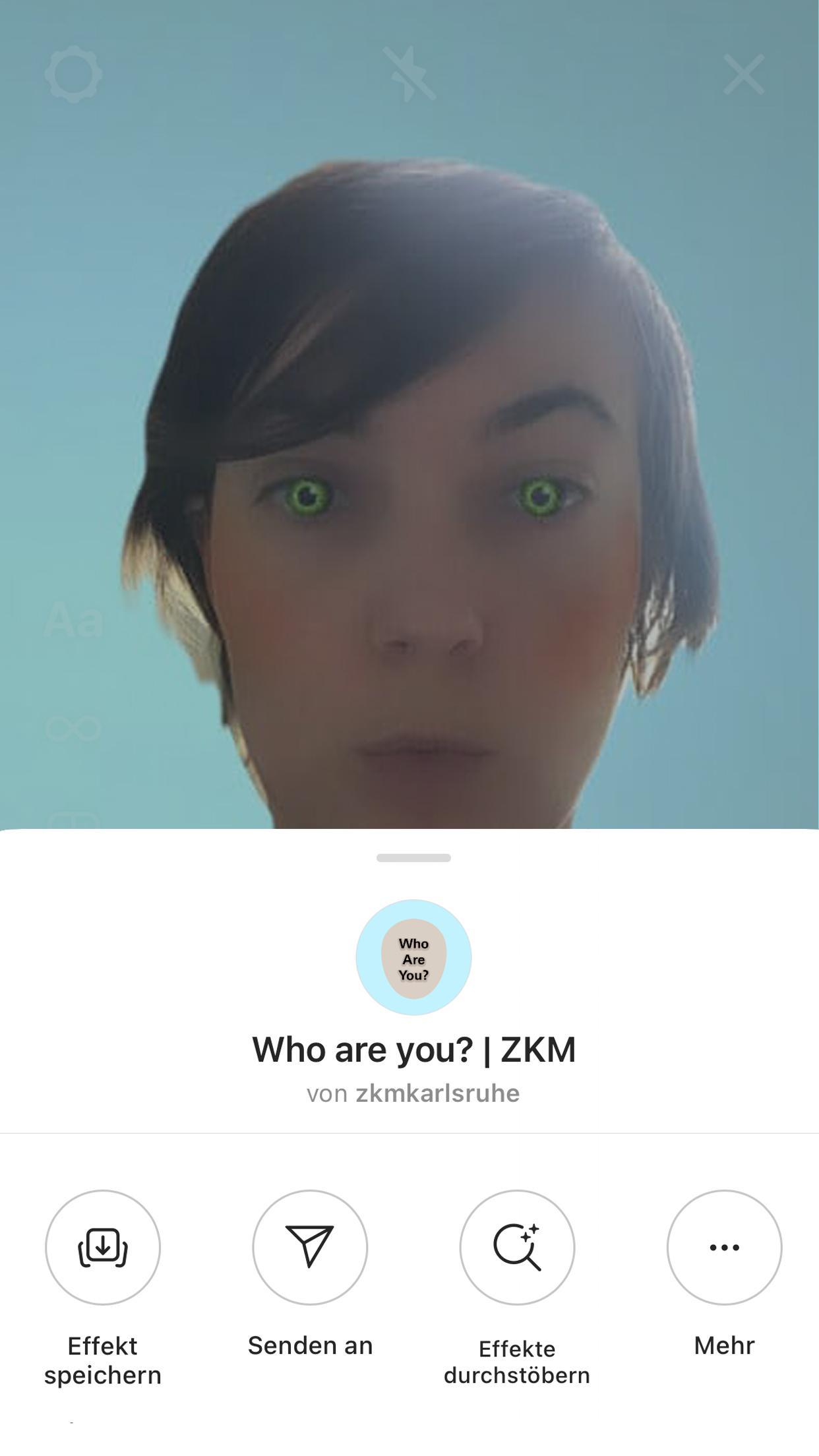 Bild einer Frau mit Instagram-Filter, der sie künstlich aussehen lässt.