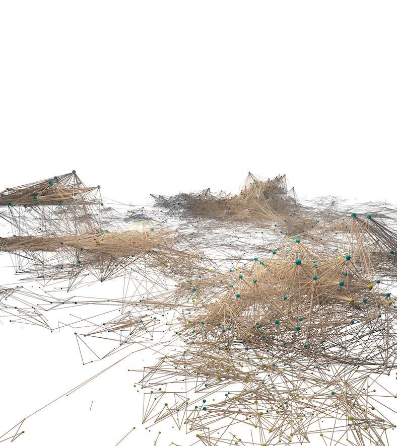 Eine Visualisierung eines Netzwerks. Sie ähnelt einem Haufen auf dem Boden verschütteter Streichhölzer