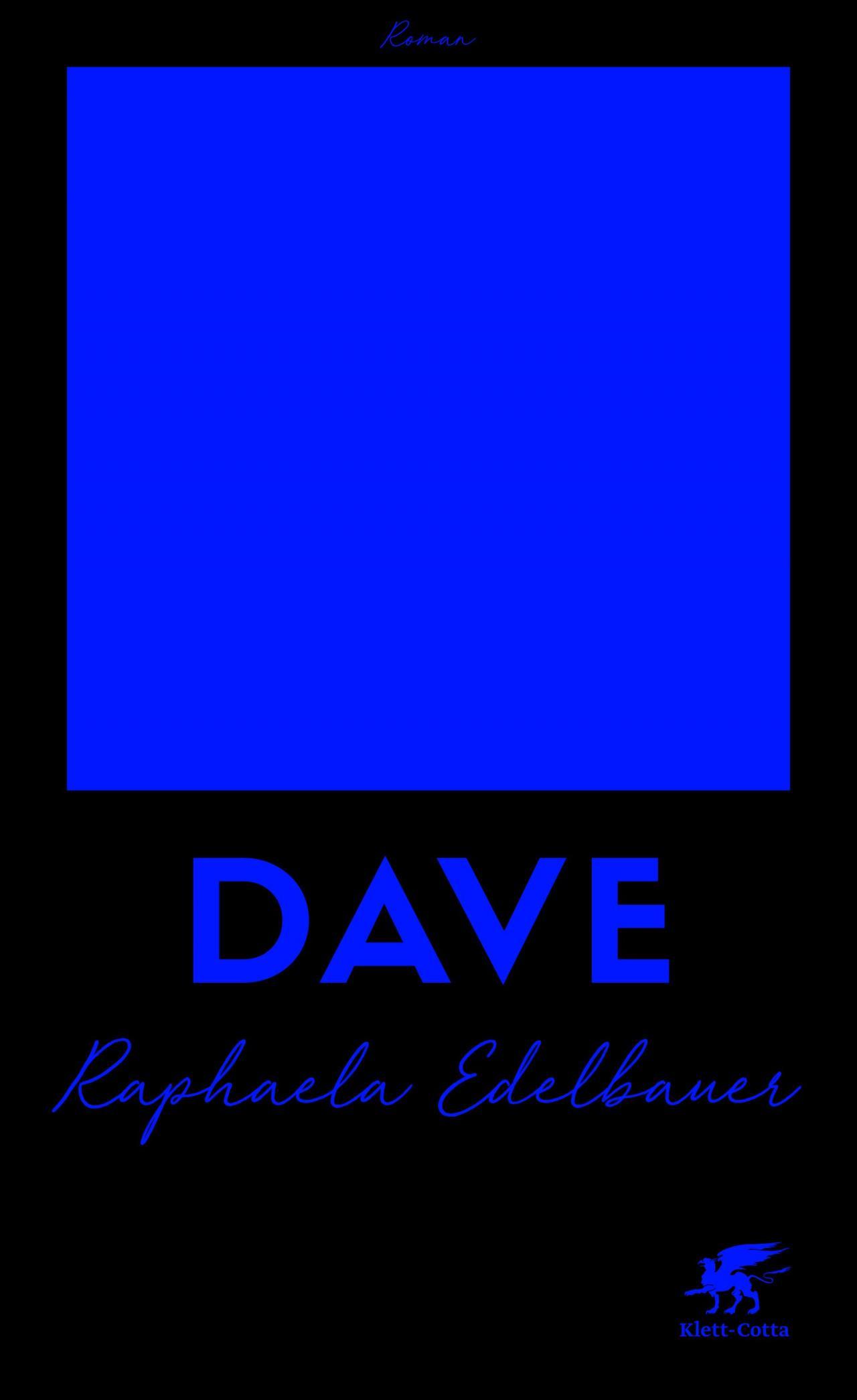 Cover des Romans »Dave« von Raphaela Edelbauer in schwarz und lila