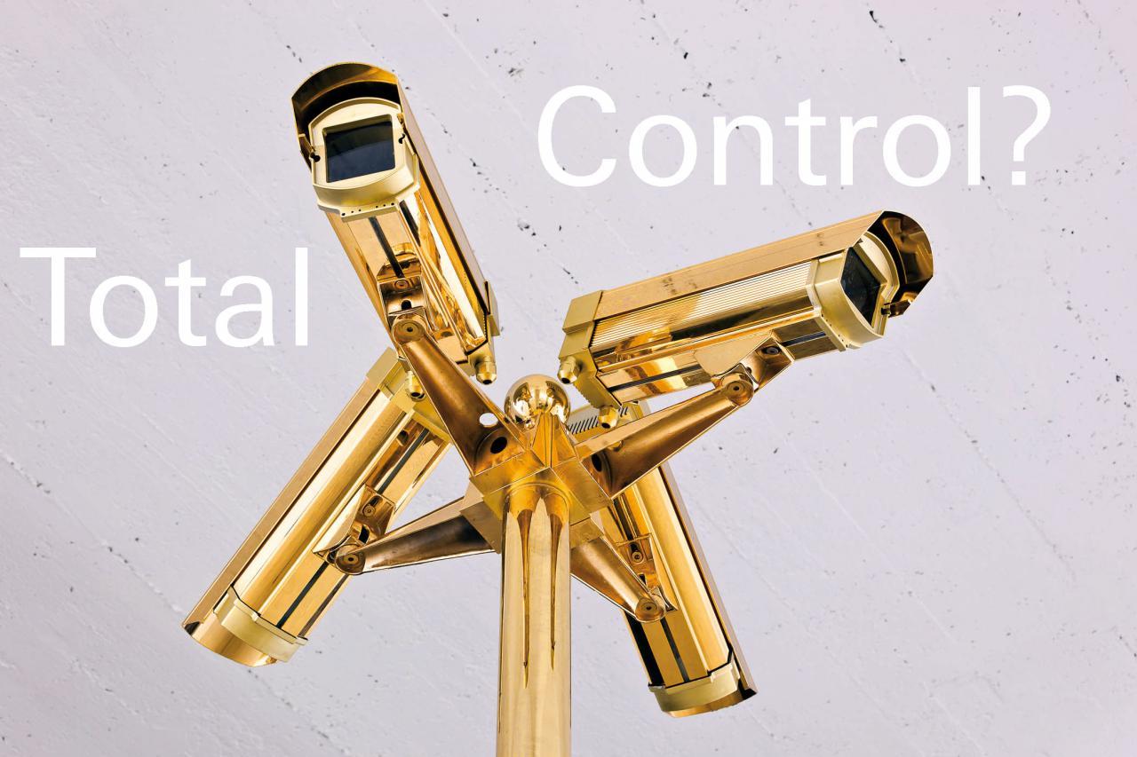 A gilded Surveillance Camera