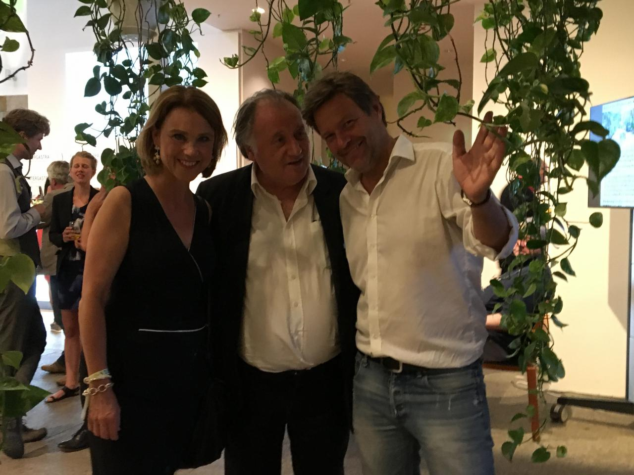 Petra Olschowski, Peter Weibel und Robert Habeck