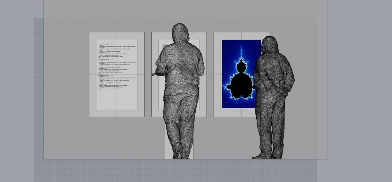 Installation view Jörn Müller-Quade, »Code beautiful like a clock«