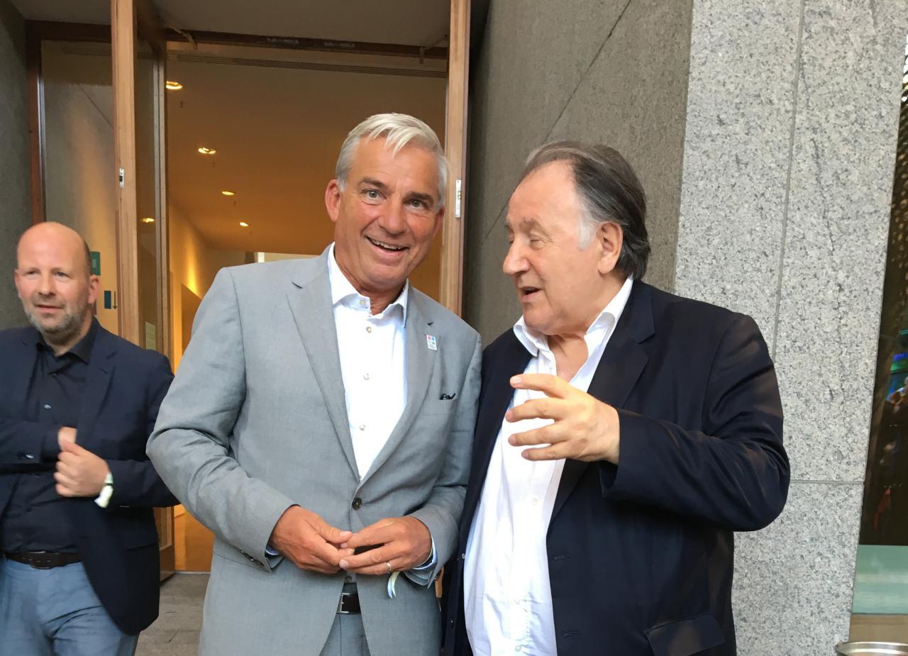 Innenminister des Landes Baden-Württemberg Thomas Strobl und Peter Weibel