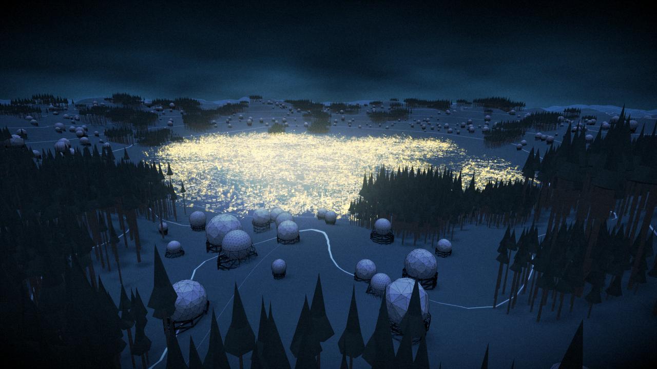 Animation eines futuristischen Lebensraums
