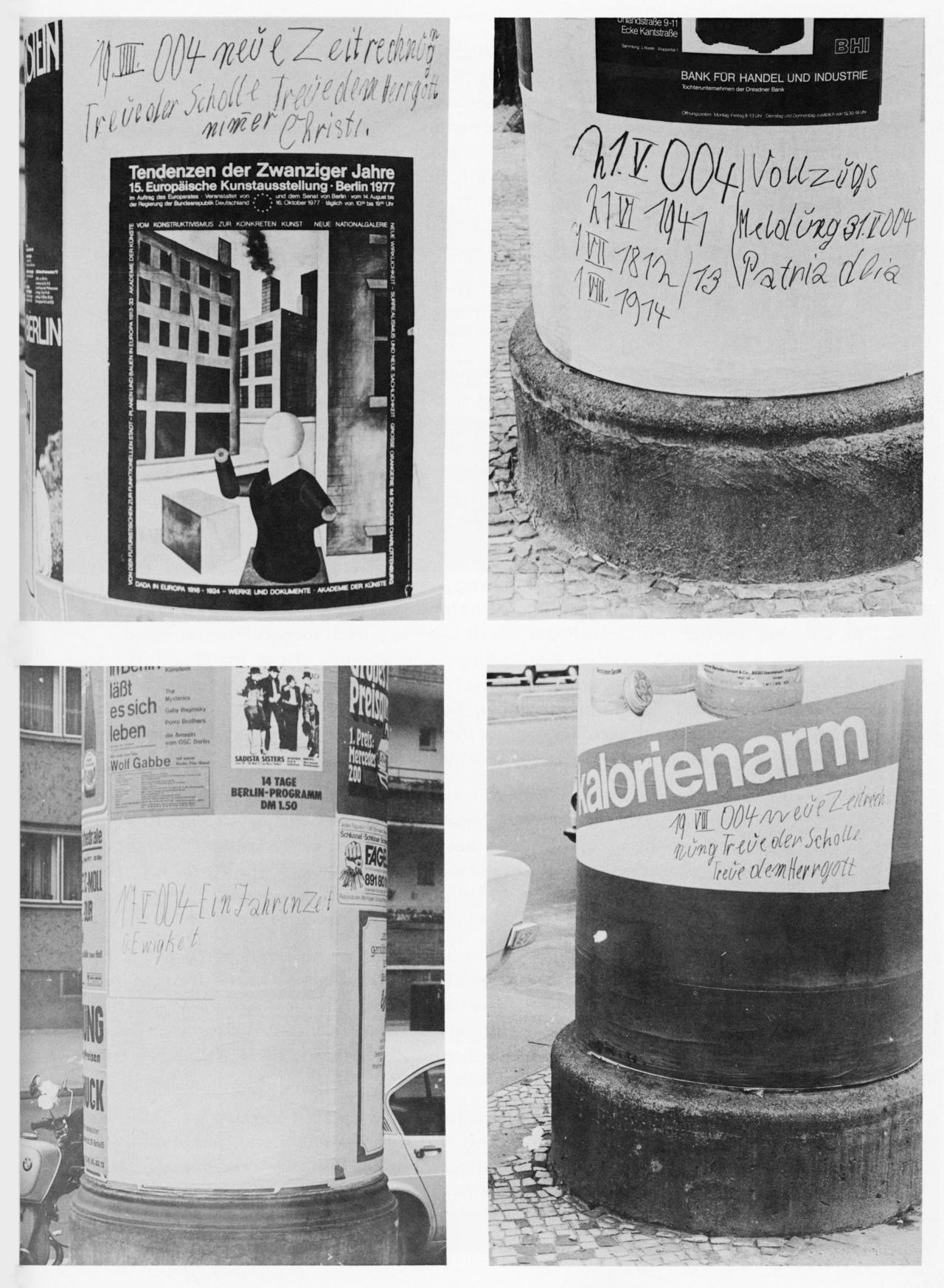 LItfasssäulen mit unterschiedlichen Graffitis