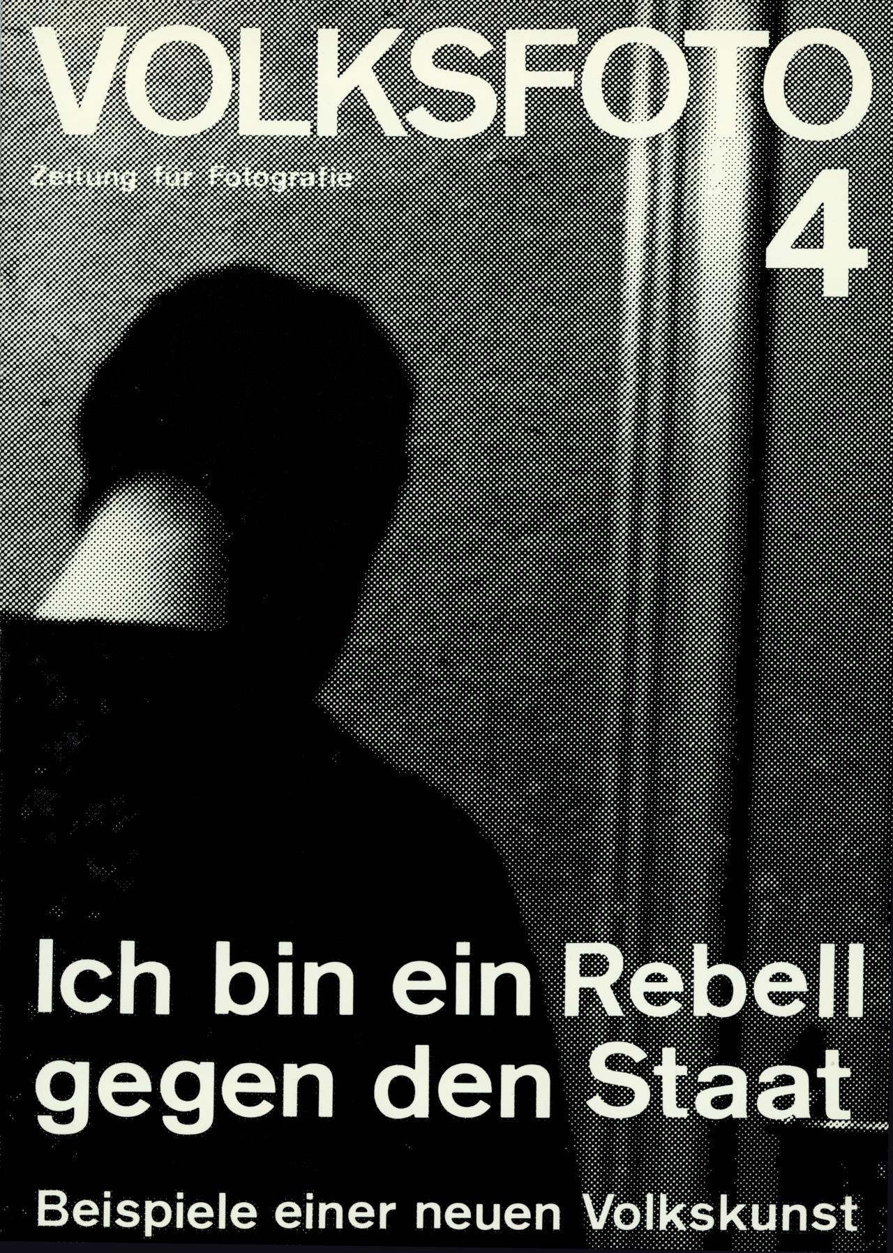 Andreas Seltzer und Dieter Hacker (Hg.), Volksfoto. Zeitung für Fotografie. Ich bin ein Rebell gegen den Staat. Beispiele einer neuen Volkskunst, Nr. 4, 7. Produzentengalerie, Berlin, 1978.