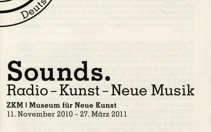 Cover of the publication »Sounds«