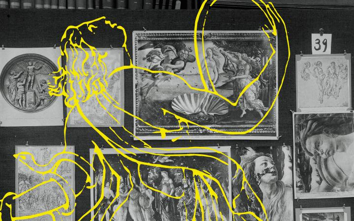 Cover of the exhebition »Aby Warburg. Mnemosyne Bilderatlas«