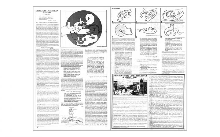 "Paul Ryan, ""Cybernetic Guerilla Warfare"", in: »Radical Software«, Vol. 1, Nr. 3, 1971,  pp 1–2."