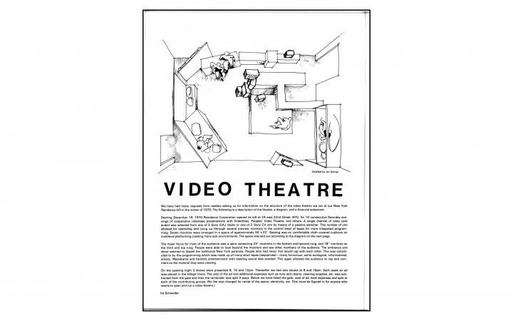 """Ira Schneider, """"Video Theatre"""", in: »Radical Software«, Vol. 2, Nr. 5, 1973"""