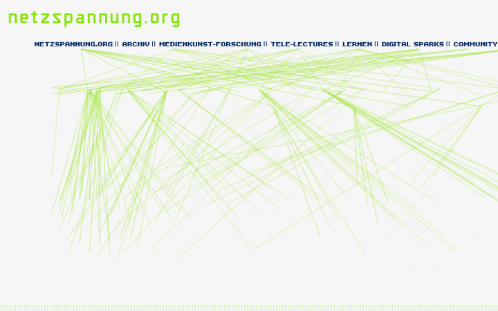 Die Startseite von Netzspannung.org