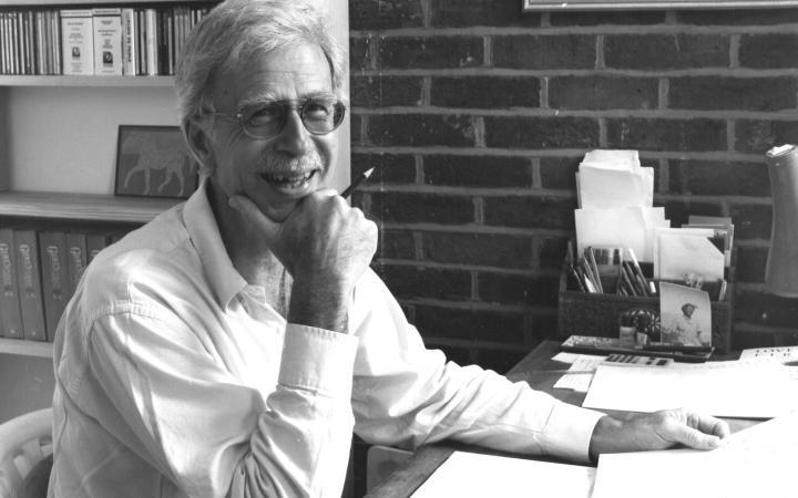 black-and-white Portrait of Jonathan Harvey
