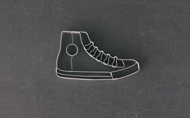 Ausstechform in Sneaker-Optik